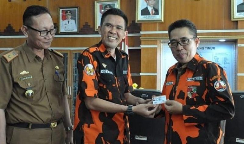 Pemuda Pancasila Lampung Timur Komitmen Dukung Program Pemkab